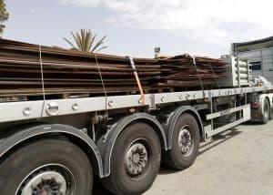 מטען סחורה ממושטחת של פלטות ברזל ע